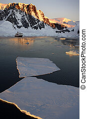 Antarctica - Midnight Sun in the Lamaire Channel