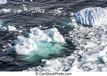 Antarctica - Pieces Of Floating Ice