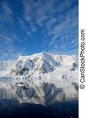 antarctica reflected in the ocean