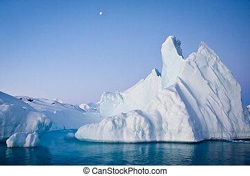 antarktisch, eisberg