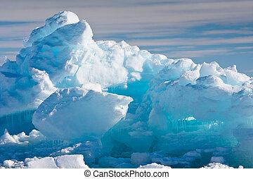 antarktisk, glaciär