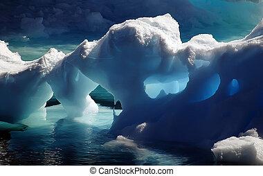 antarktisk, is grotta