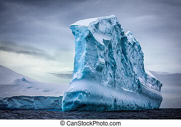 antarktisk, isberg