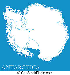 Antartica - Map of Antarctica