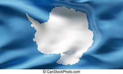 antartica, vent, drapeau, plissé