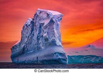 antartico, iceberg