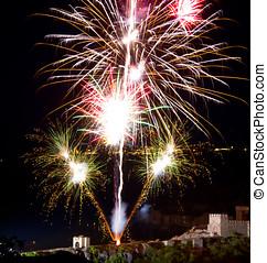 antastic, fireworks, nero, copyspace, colorito