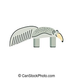 anteater jungle animal in cartoon abstract design