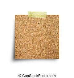 anteckna, Årgång, vit, bakgrund, papper