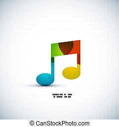anteckna, begrepp, musik, färgrik