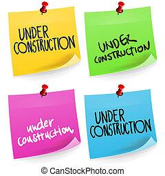 anteckna, konstruktion under, klibbig
