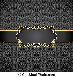anteckna, kunglig, bok, svart, täcka