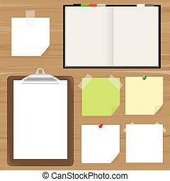 anteckna, påminnelse, skrivplatta