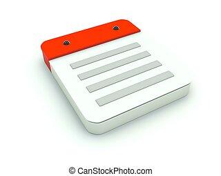 anteckna, serie, icon., röd
