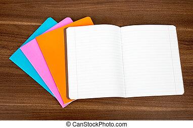 anteckningsböcker, hög