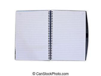 anteckningsbok, öppna