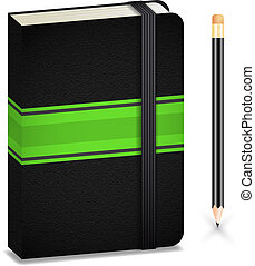 anteckningsbok, blyertspenna
