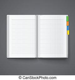 anteckningsbok, för, arkivalier