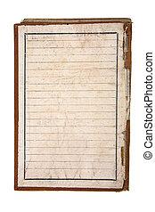 anteckningsbok, gammal