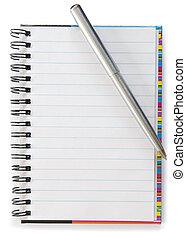 anteckningsbok, handtag
