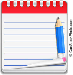 anteckningsbok, ikon