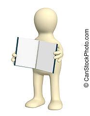 anteckningsbok, marionett, 3