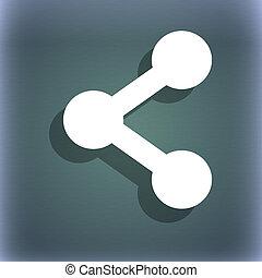 anteil, ikone, symbol, auf, der, blau-grün, abstrakt, hintergrund, mit, schatten, und, raum, für, dein, text.