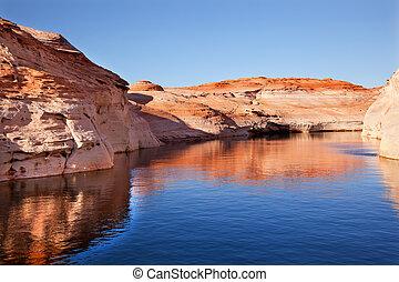 Antelope Canyon Reflection Glen Canyon Recreation Area Lake Powell Arizona