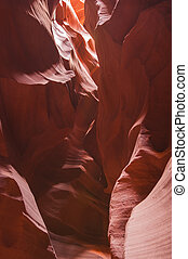 Antelope Canyon with rock formation that can be use for backgrou