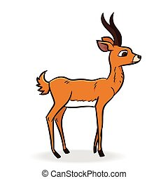 Antelope Cartoon - Vector Illustration