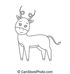 Antelope for coloring book.