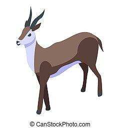 Antelope gazelle icon, isometric style