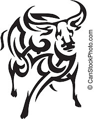 antelope in tribal style - vector illustration