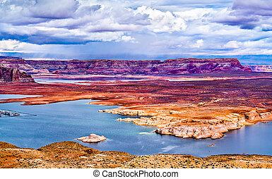 Antelope Island in Lake Powell, Arizona