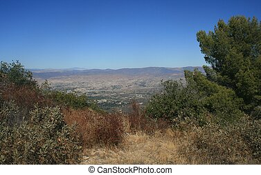 View of the Antelope Valley from Bear Divide, Angeles National Forest, CA