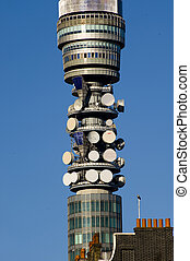 Central television antena in the London, UK