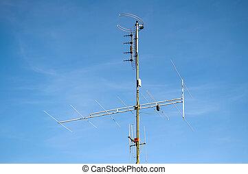 antena de la televisión, antena