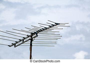 antena de la televisión