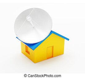 antena house on a white background