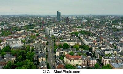 antena, okręg, sachsenhausen-nord, główny kanał, niemcy,...