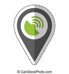 antena satellite isolated icon
