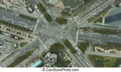 antena, szanghaj, porcelana, kompleks, crossroads
