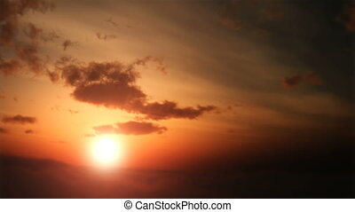 antena, zachód słońca