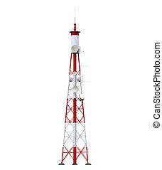 antenas, torre de comunicación