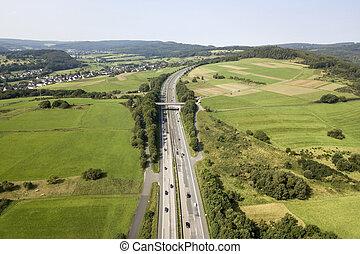 antenn, motorväg, synhåll