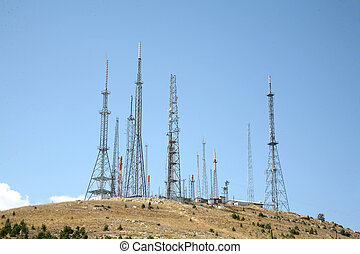 antenna background - Established stations for mobile phones