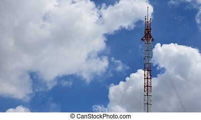 Antenna cellular tower, Timelapse - Antenna cellular tower...