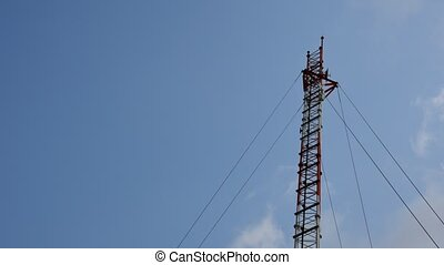 Antenna cellular tower, Timelapse
