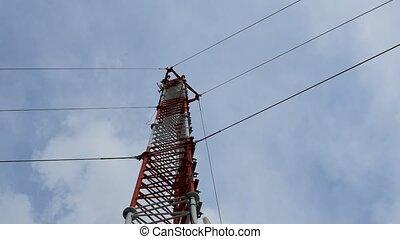 Antenna cellular tower, Timelapse - Antenna cellular tower...