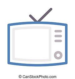 antenna color line icon